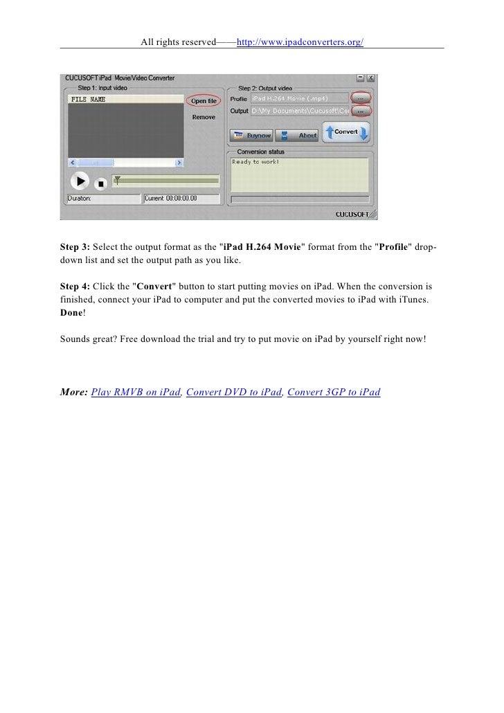 How to put movies on ipad