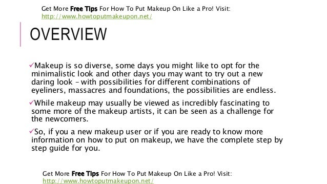 learn how to put makeup on like a pro