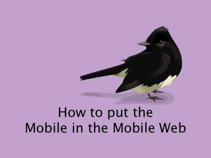 How to put theMobile in the Mobile Web