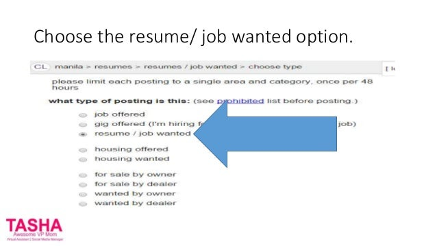 how to put your resume on craigslist