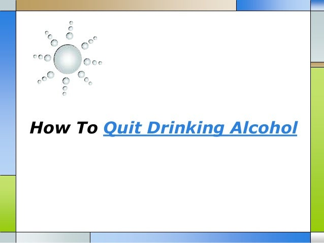 how to stop drinking alcohol at home
