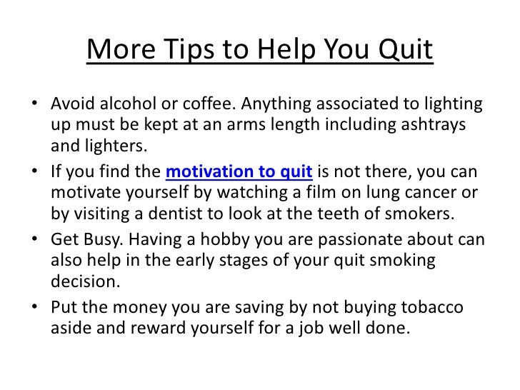 the project of stopping smoking essay The california smokers' helpline is engaged in special projects that make it easier to quit smoking special projects for smoking this project was.