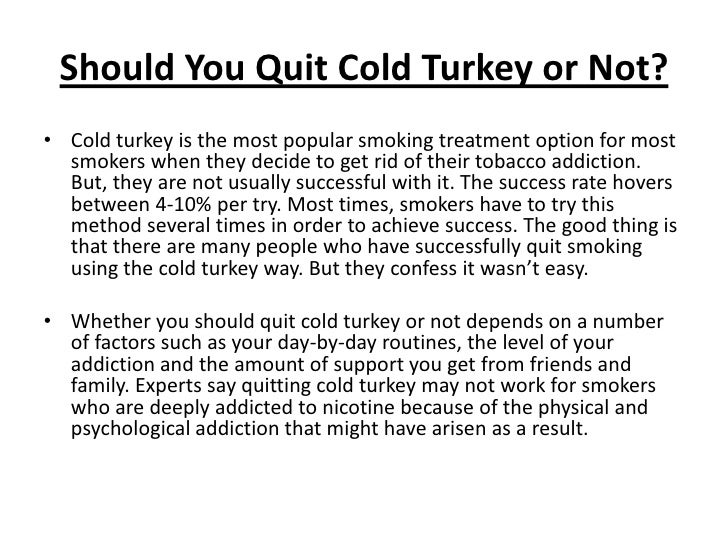 Cold Turkey Still #1 Quit Smoking Method - whyquit.com