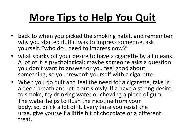 how to leave smoking tips