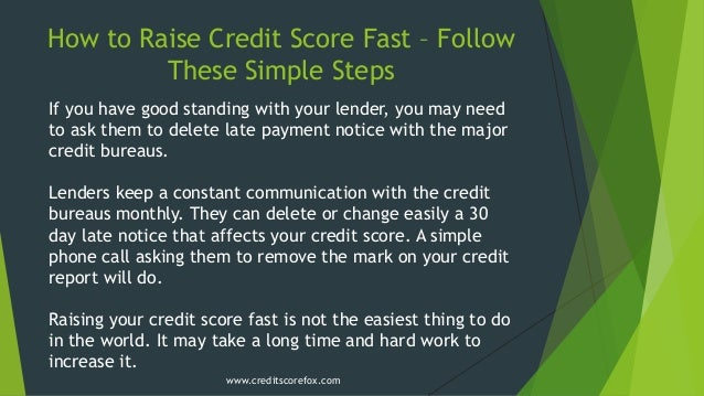 how to raise credit score fast  u2013 follow these simple steps