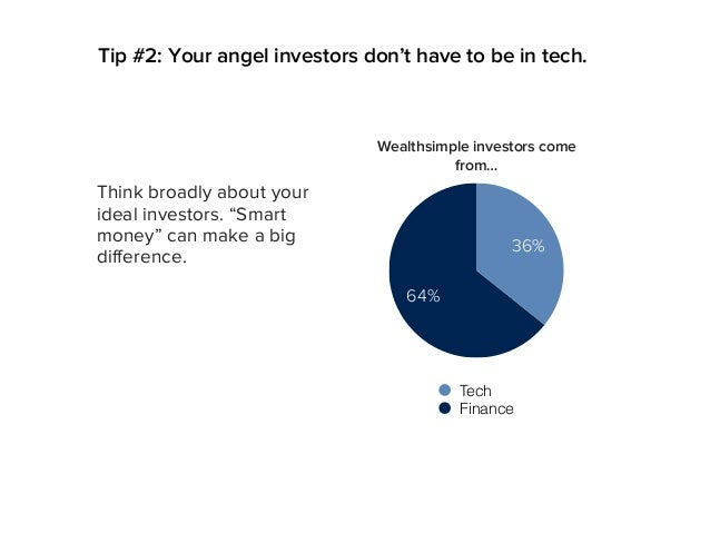 """Tip #2: Your angel investors don't have to be in tech. Think broadly about your ideal investors. """"Smart money"""" can make a ..."""