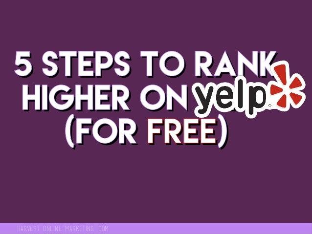 Yelp Seo How To Rank Higher On Yelp
