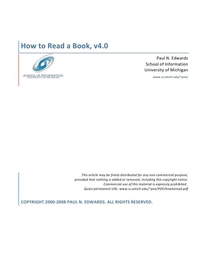 HowtoReadaBook,v4.0                                                                            PaulN.Edwards     ...
