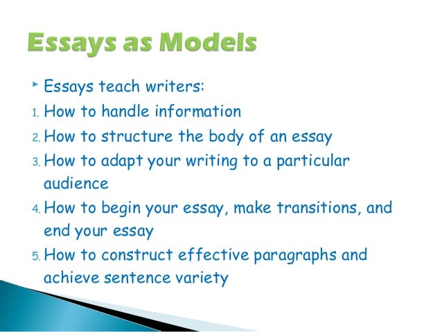 Examples Of Essay Papers How To Construct Effective Paragraphs And Achieve Sentence Variety  Sample Synthesis Essays also High School Essay Examples What Is Essay Essay About Learning English