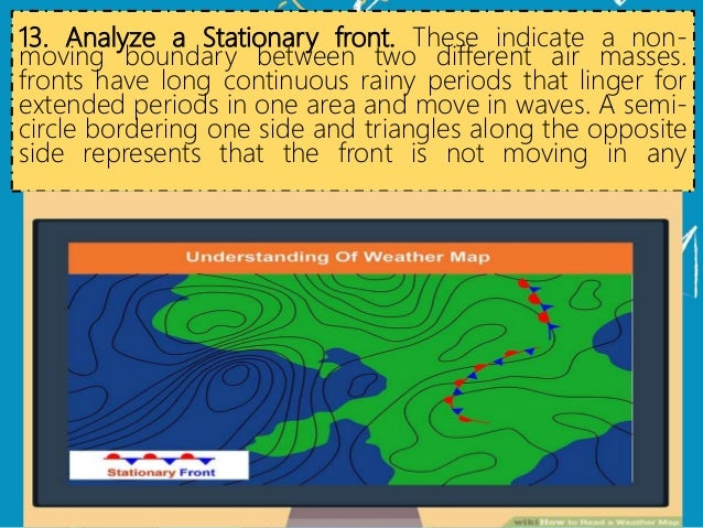 Stationary Front On A Weather Map.How To Read A Weather Map