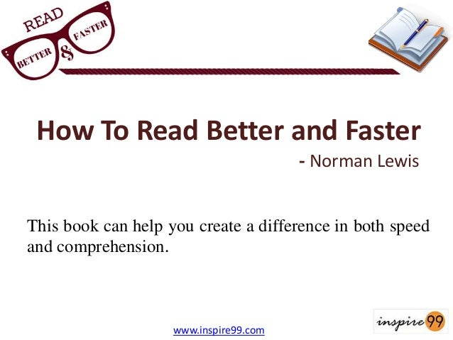 how to read better and faster by norman lewis download