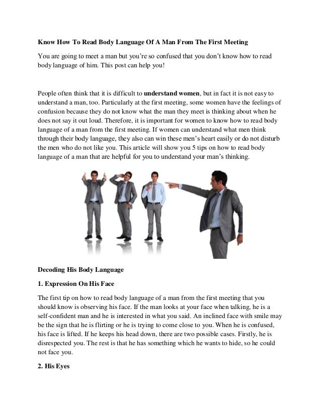 How to read body language in men
