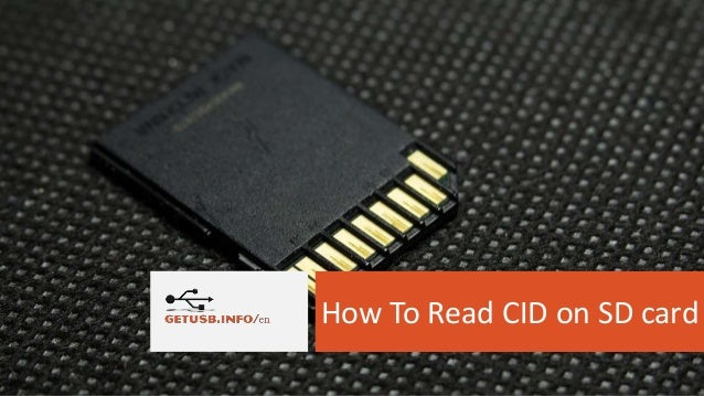 How To Read CID on SD card