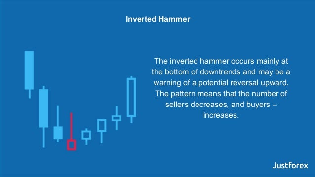 The inverted hammer occurs mainly at the bottom of downtrends and may be a warning of a potential reversal upward. The pat...