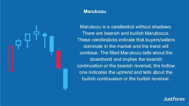 Marubozu is a candlestick without shadows. There are bearish and bullish Marubozus. These candlesticks indicate that buyer...