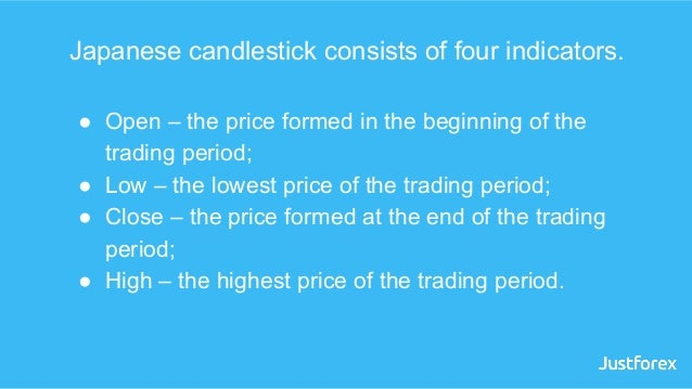 Japanese candlestick consists of four indicators. ● Open – the price formed in the beginning of the trading period; ● Low ...