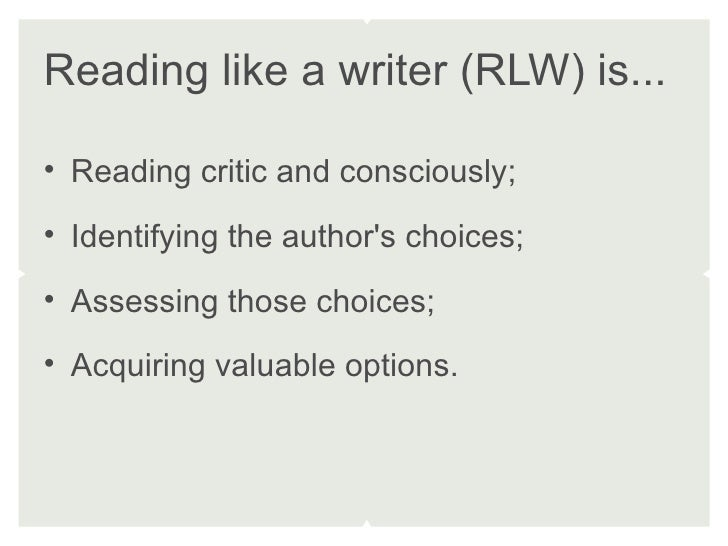 How to read like a writer
