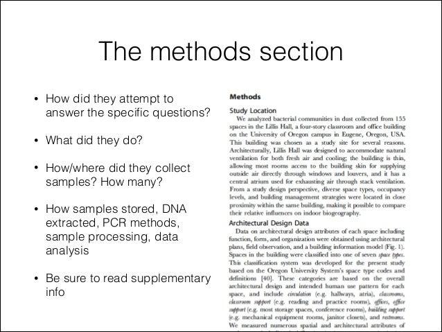Dissertation method section