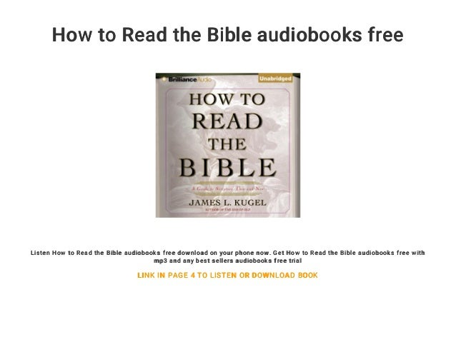 How to Read the Bible audiobooks free