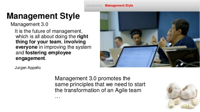 • Management Participation • Motivated team members • People that take responsibility • Promote a culture of change Engage...