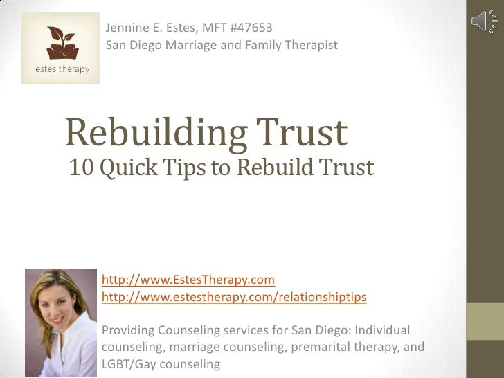 Trust in a marriage rebuilding