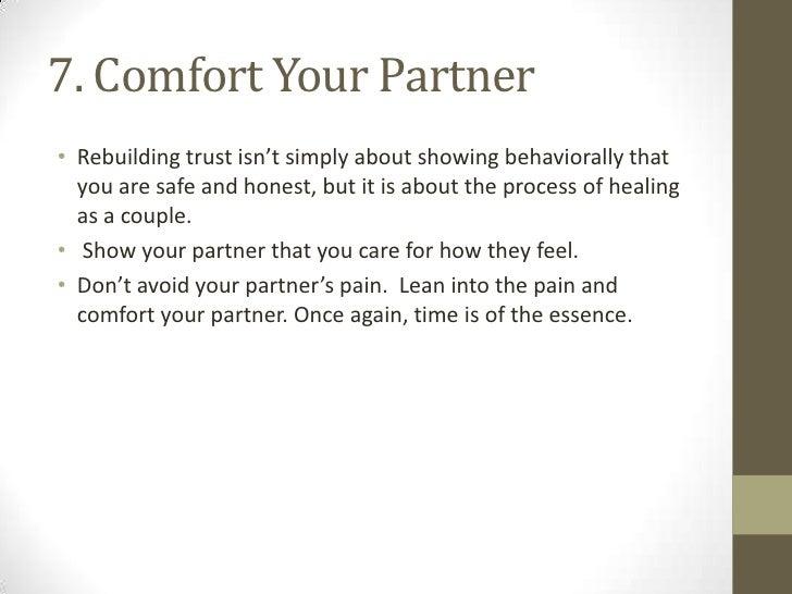How to regain her trust