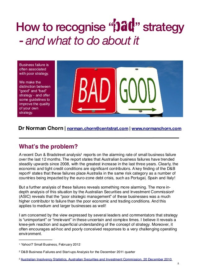"""of the """"Living Organisation"""" s What's the problem? A recent Dun & Bradstreet analysis1 reports on the alarming rate of sma..."""