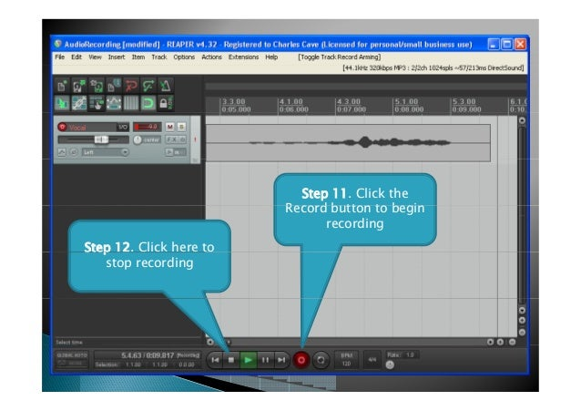 How to record voice using Reaper