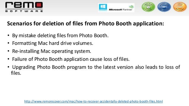 how to get deleted photos from photo booth