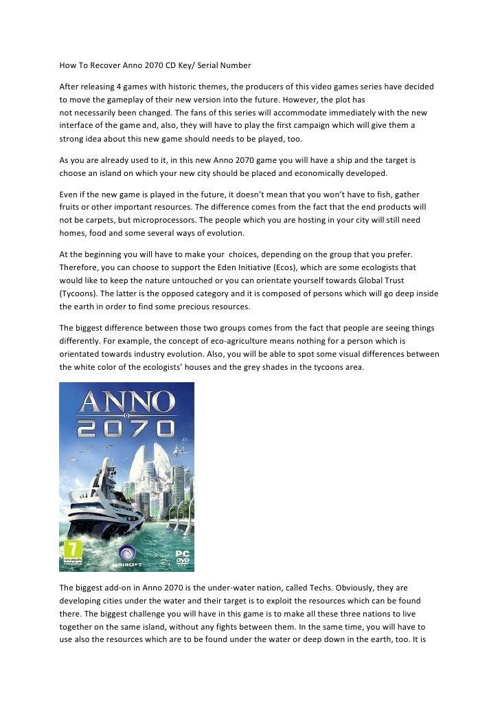 anno 2070 cd key generator download free