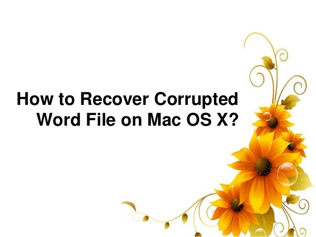 how to delete a corrupt word file