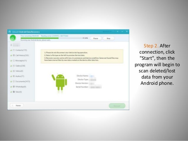 How to recover data from android without root