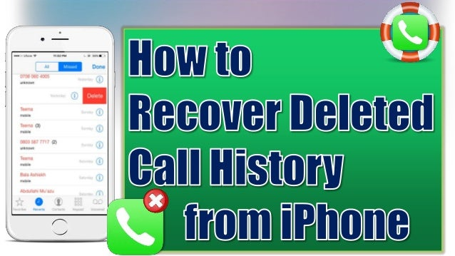 how to see deleted history on iphone how to recover deleted call history on iphone for free 9453
