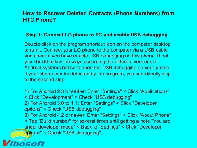 how to find a deleted number on android
