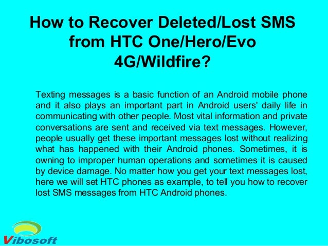 How to recover deleted lost sms from htc oneheroevo 4g ...