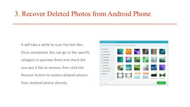 how to find deleted photos on android phone
