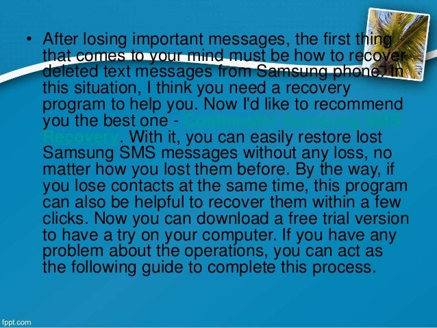 how to find deleted texts on samsung
