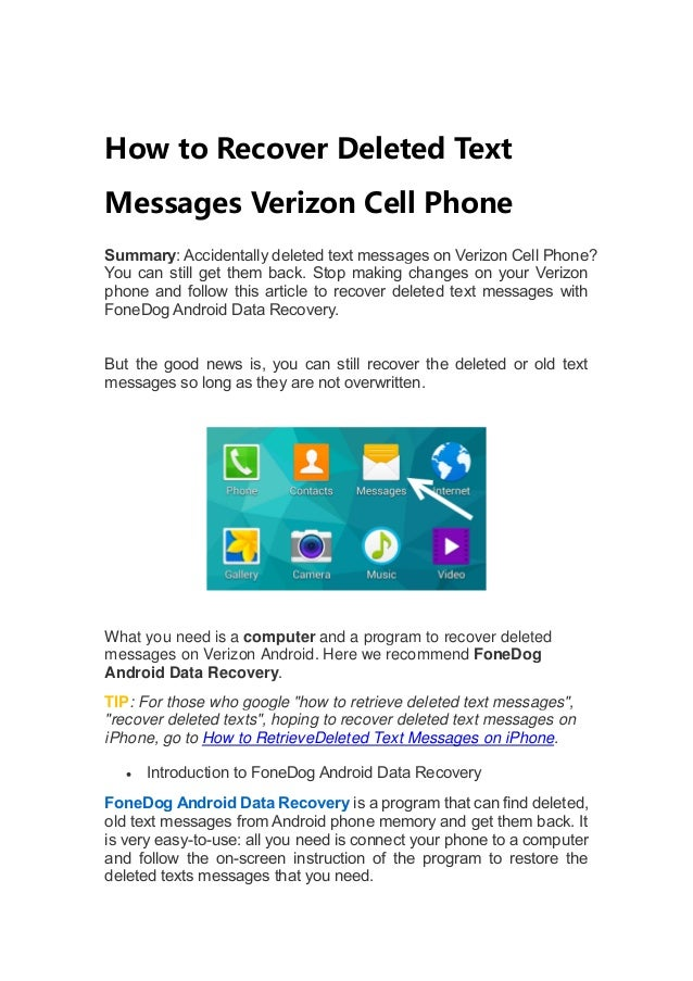 How To View Old Text Messages Verizon