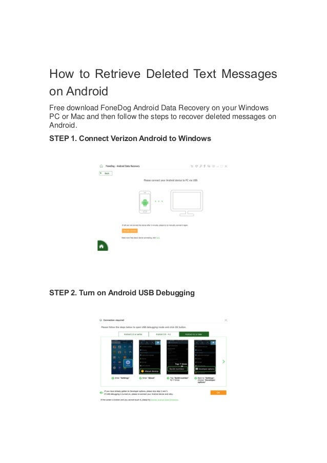 How to recover deleted text messages verizon cell phone