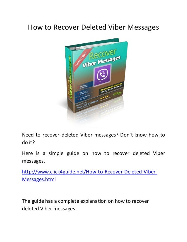 how to recover deleted text messages on iphone how to recover deleted viber messages 2606