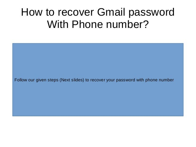 recover gmail password from phone