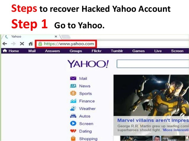 How to recover hacked yahoo account call now +1-855-6500-666