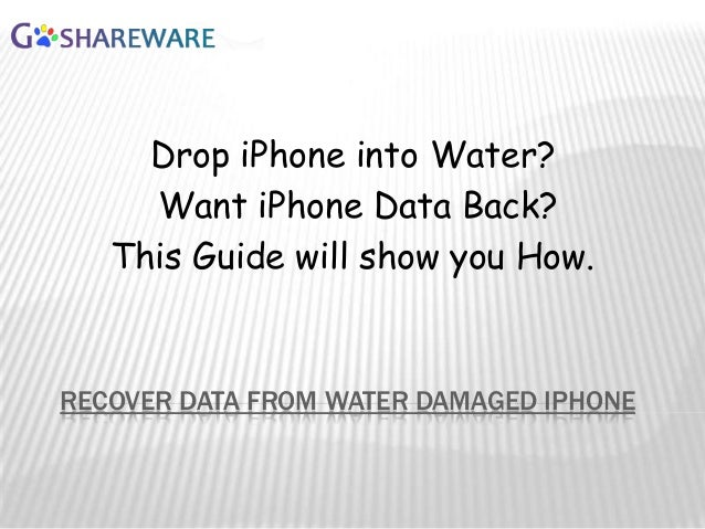 How to recover iphone data from water damaged