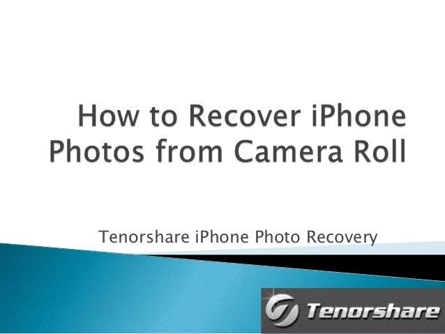 Tenorshare iPhone Photo Recovery