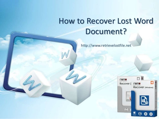 Recover lost documents word 2016