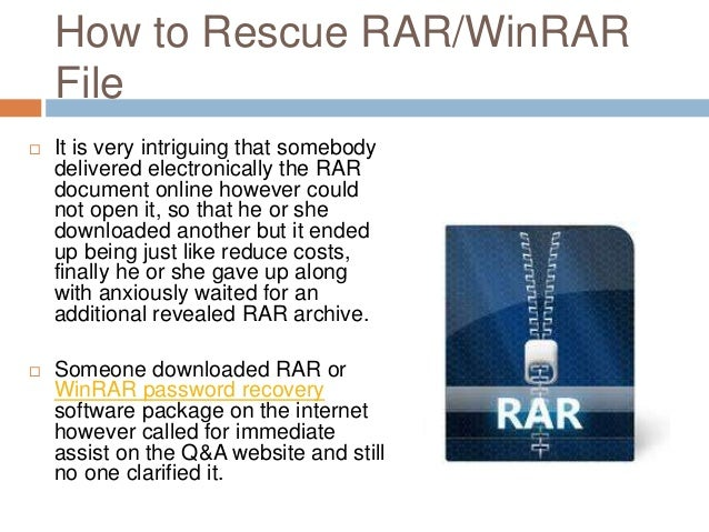 how to recover winrar password