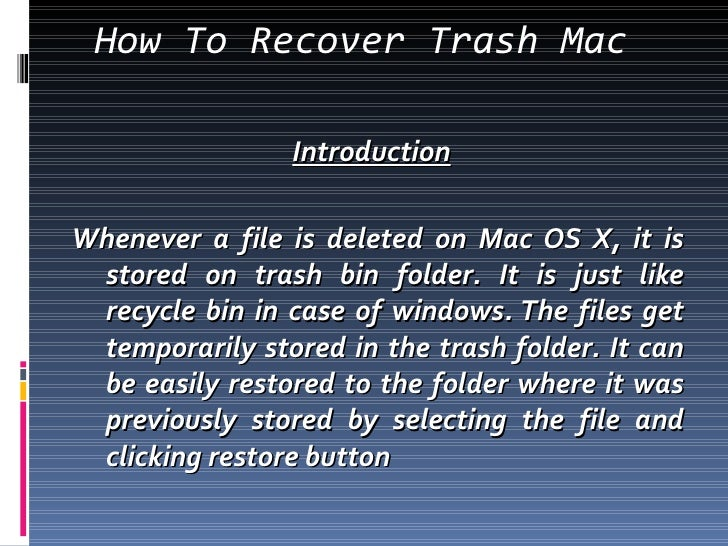 how to delete from trash mac