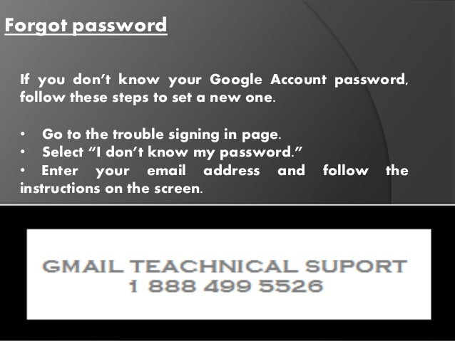 how do i change my google account password if i dont know it