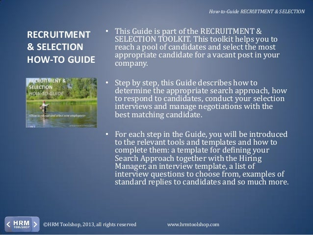 guide on the selection of employees Understand how to conduct effective pre-employment checks pre-employment checks: an employer's guide legal issues relating to recruitment and selection.