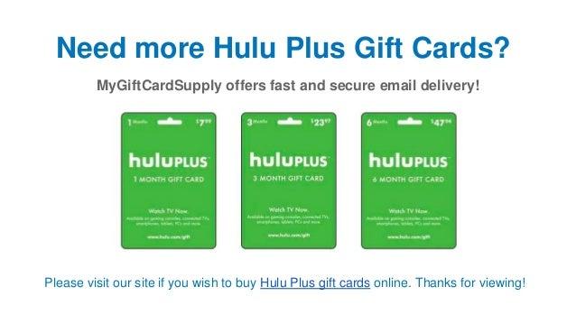 Hulu redeem gift subscription